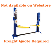 Bullet Pro 2 Post Clear Floor Hoist 4 Ton with 100 mm Load Arm Adaptors